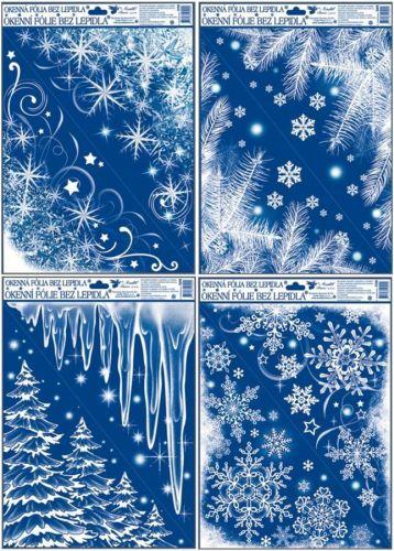 Anděl Přerov Okenní fólie rohová zamrzlá s duhovými glitry