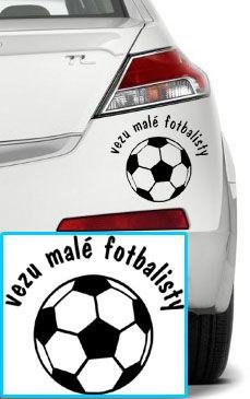 Shopnisi Samolepka na auto Vezu malé fotbalisty