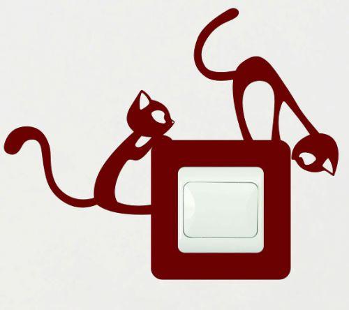 Shopnisi Samolepka pod vypínač Nezbedné kočky