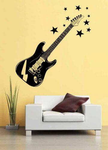 Shopnisi Samolepka na zeď Elektrická kytara 2