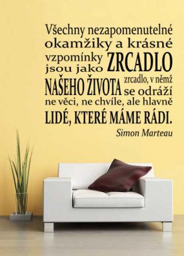Shopnisi Nápis na stěnu Simon Marteau citát