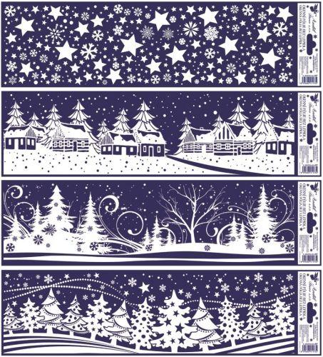 Anděl Přerov Okenní fólie vánoční krajinky pruh