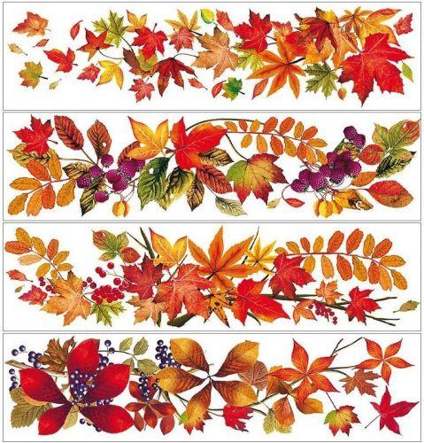 Anděl Přerov Okenní fólie pruh s podzimním listím set