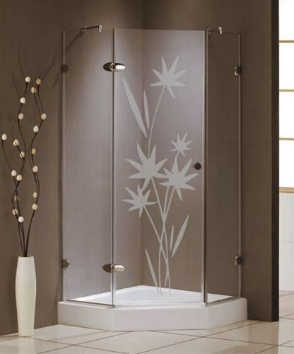 Shopnisi Samolepka na sprchový kout Květiny