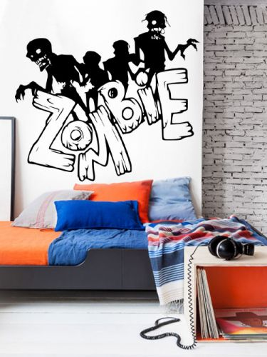 Shopnisi Samolepka na zeď Zombie nápis