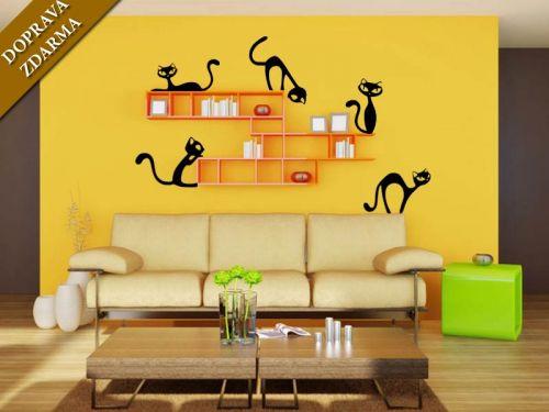 Shopnisi Samolepka na zeď Nezbedné kočky