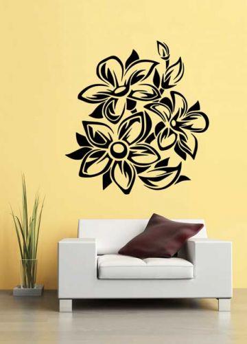 Shopnisi Samolepka na zeď Květinový ornament