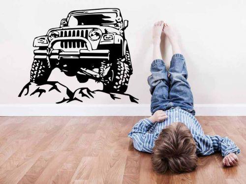 Shopnisi Samolepka na zeď Teréní auto