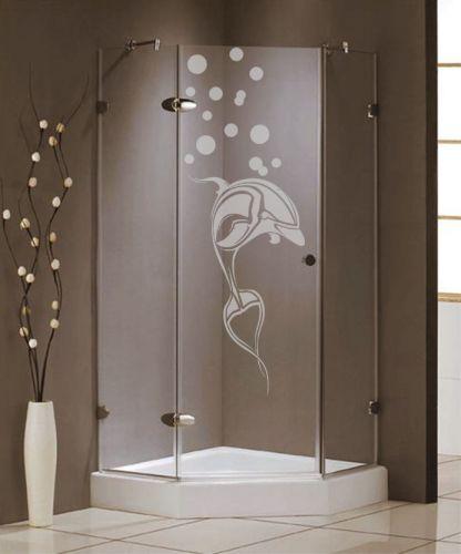 Shopnisi Samolepka na sprchový kout Delfín s bublinami