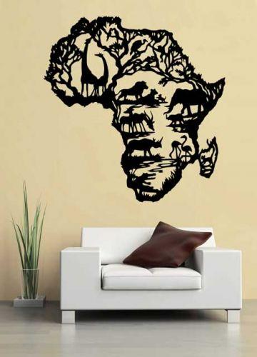 Shopnisi Samolepka na zeď Afrika