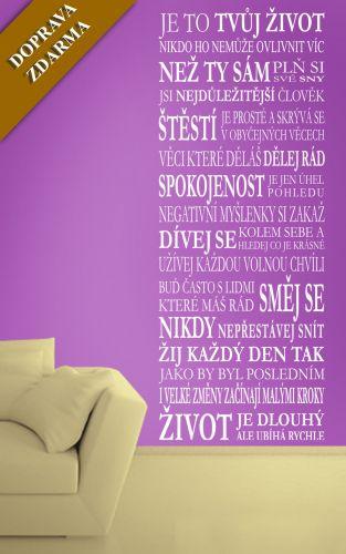 Shopnisi Samolepka na zeď Nápis na stěnu Tvůj život