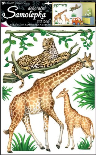 Anděl Přerov Samolepka Safari 69x42 cm