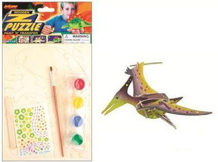Anděl Přerov 3D Dřevěné puzzle dinosaurus 3,20 x 15 cm