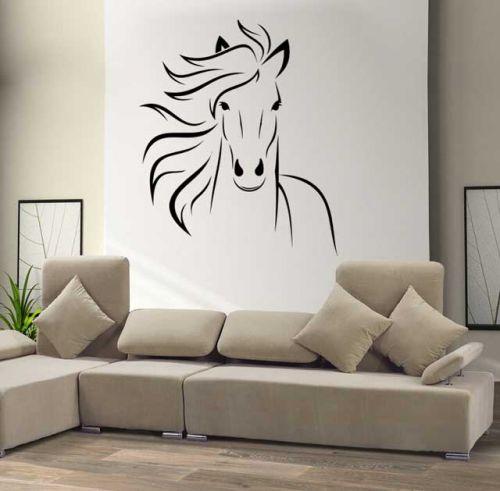 Shopnisi Samolepka na zeď Kůň hlava