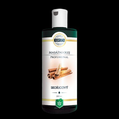 Topvet Masážní olej Professional Skořicový 200 ml