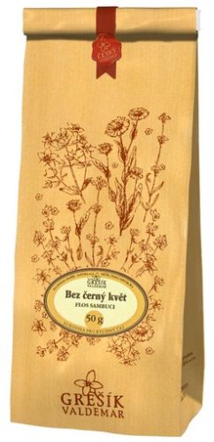 Grešík Čaj Bez černý květ 50 g cena od 42 Kč