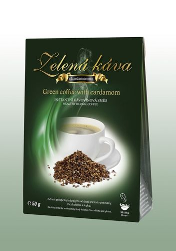 Dnm Zelená káva s příchutí kardamonu 50 g cena od 98 Kč