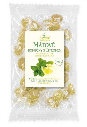 Grešík Mátové bonbóny s citrónovou příchutí 100 g