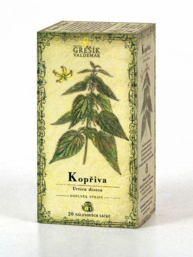 Grešík Čaj kopřiva 20x1 g cena od 23 Kč