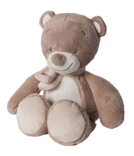 NATTOU plyšový hrkací Medvěd 18 cm