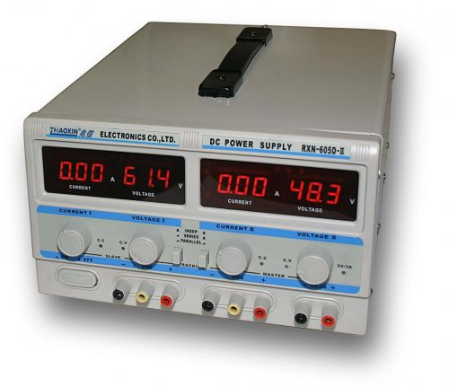 ZHAOXIN RXN-6005D-II - 2x60V/5A, 120V/5A, 60V/10A