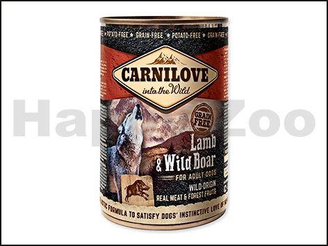 CARNILOVE Konzerva Lamb & Wild Boar for Adult Dogs 400 g