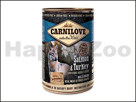 CARNILOVE Konzerva Salmon & Turkey for Adult Dogs 400 g