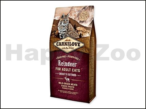 CARNILOVE Cat Reindeer for Adult Cats Energy and Outdoor 6 kg