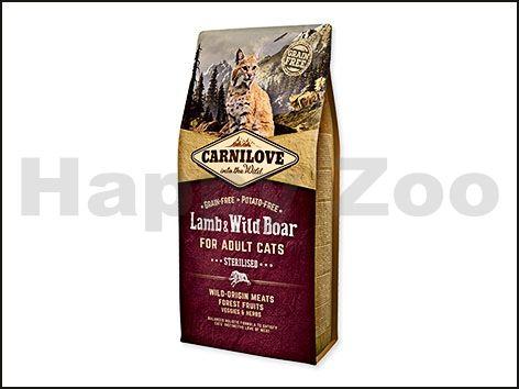 CARNILOVE Cat Lamb & Wild Boar for Adult Cats Sterilised 6 kg cena od 714 Kč