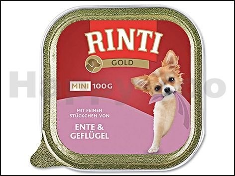 RINTI Paštika Gold Mini kachna a drůbež 100 g