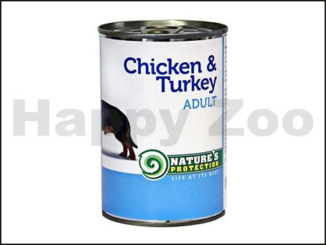 NATURES PROTECTION Konzerva Dog Adult kuře a krůta 400 g