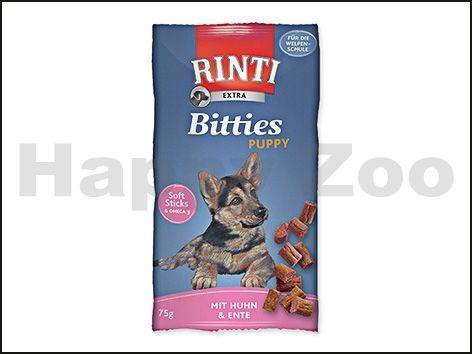 RINTI Extra Bitties Puppy - kuře a kachna 75 g