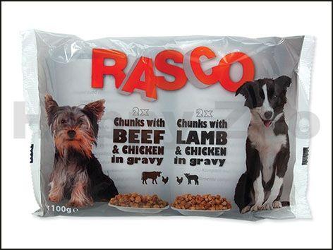 RASCO kapsička s kuřecím a hovězím, s jehněčím a kuřecim