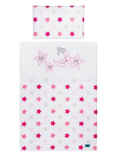 Belisima Hvězdičky růžové bavlněné povlečení