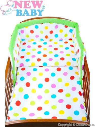 New Baby puntík zelené bavlněné povlečení cena od 241 Kč