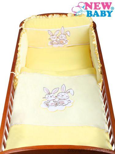 NEW BABY Bunnies 90 žluté bavlněné povlečení