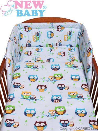 NEW BABY Sovičky modré bavlněné povlečení