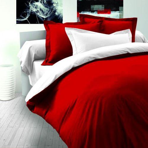 Kvalitex LUXURY COLLECTION bavlněný satén červeno / bílé povlečení