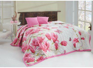 Tiptrade Alize Pink přehoz na postel