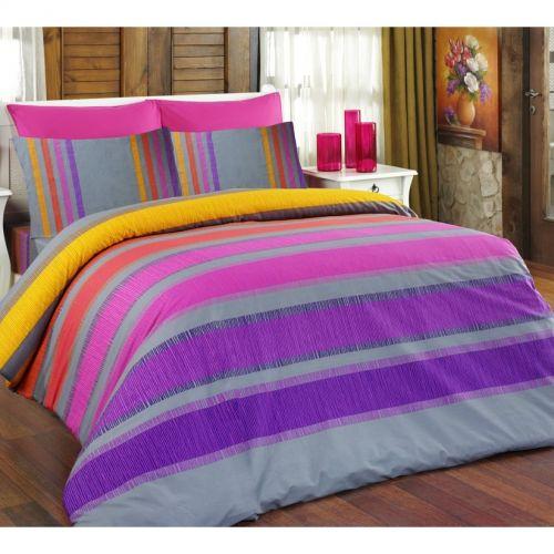 Bedtex ELLE fialové bavlněné povlečení
