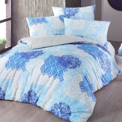 Night in Colours Ottorino modré bavlněné povlečení