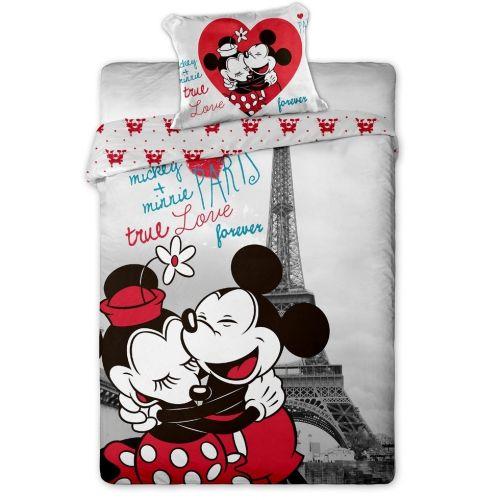 Jerry Fabrics Mickey a Minnie in Paris bavlněné povlečení