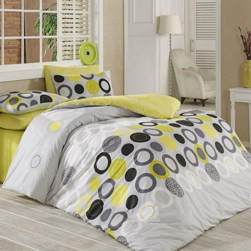BedTex Tip Trade Beneton žluté bavlněné povlečení