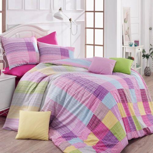 Bedtex Karo růžové bavlněné povlečení