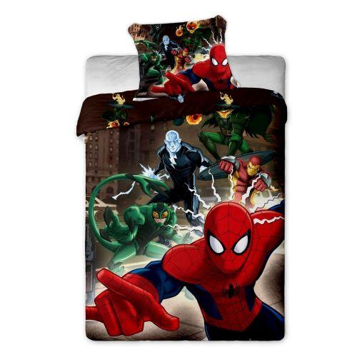 Jerry Fabrics Spiderman hnědé bavlněné povlečení