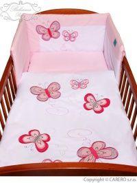 Belisima Motýlek růžové bavlněné povlečení