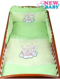 New Baby Bunnies zelené bavlněné povlečení