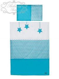 Belisima Hvězdička tyrkysové bavlněné povlečení