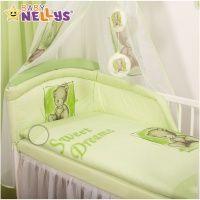 Baby Nellys Sweet Dreams by Teddy zelené bavlněné povlečení