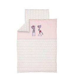 Ceba Kočičky růžové bavlněné povlečení